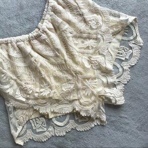 Jen's Pirate Booty Lyon Lace Cotton Shorts Pixie